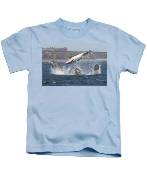 Dance Of The Dolphins Kids T-Shirt