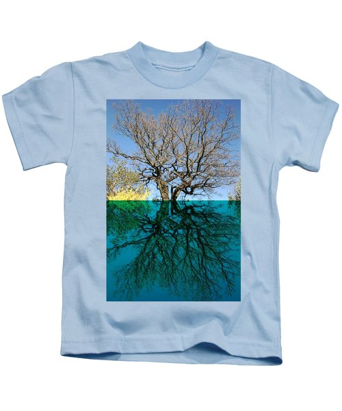 Dancers Tree Reflection  Kids T-Shirt