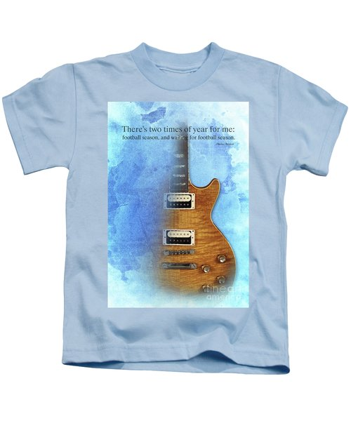 Darius Rucker Inspirational Quote, Electric Guitar Poster For Music Lovers And Musicians Kids T-Shirt by Pablo Franchi