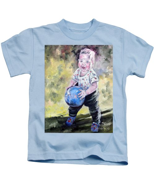 David With His Blue Ball Kids T-Shirt
