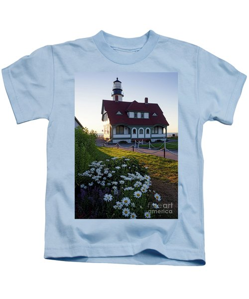Dawn At Portland Head Light, Cape Elizabeth, Maine  -08614 Kids T-Shirt