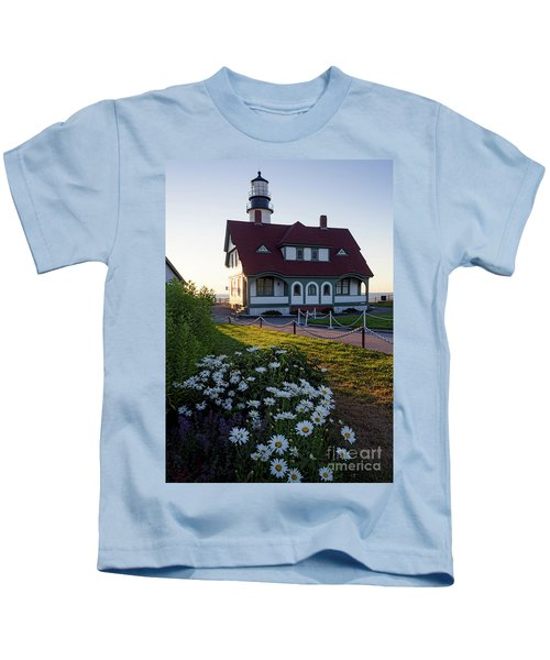 Dawn At Portland Head Light, Cape Elizabeth, Maine  -08614 Kids T-Shirt