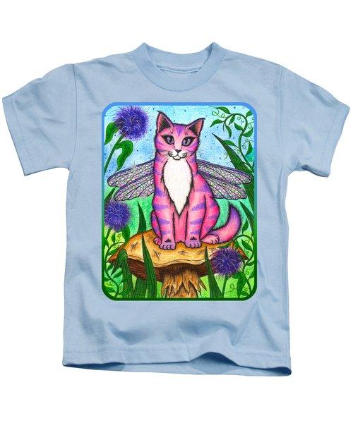 Dea Dragonfly Fairy Cat Kids T-Shirt