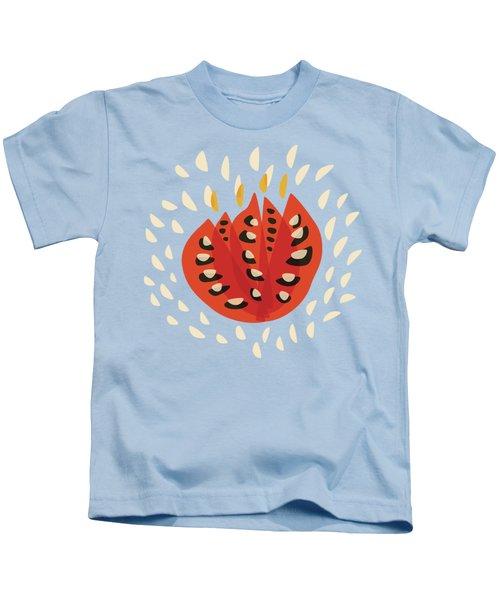 Decorative Beautiful Abstract Tulip Kids T-Shirt by Boriana Giormova