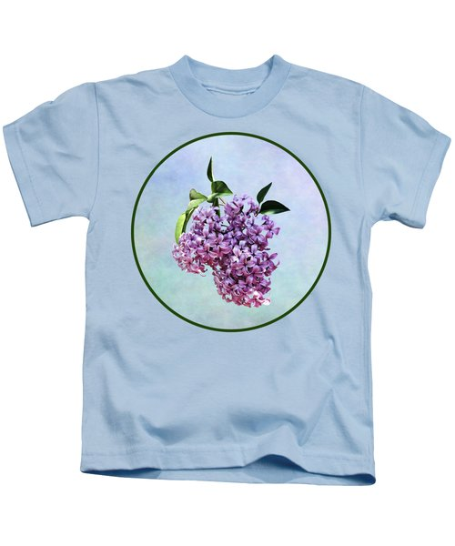 Delicate Pink Lilacs Kids T-Shirt