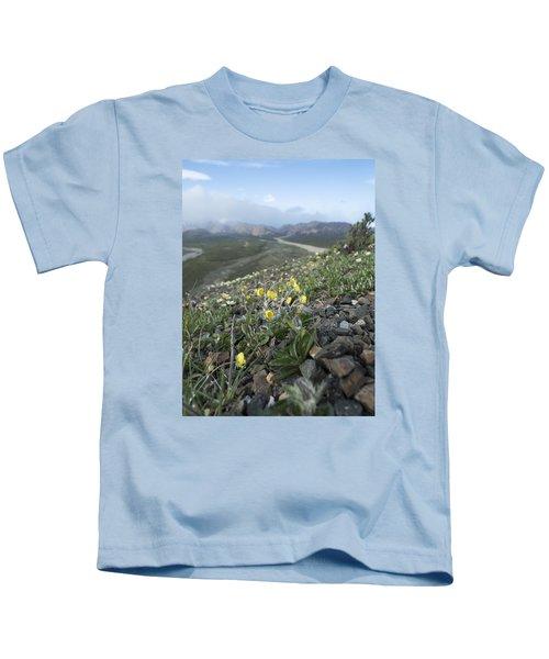 Denali Wildflowers Kids T-Shirt