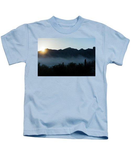 Desert Inversion Sunrise Kids T-Shirt