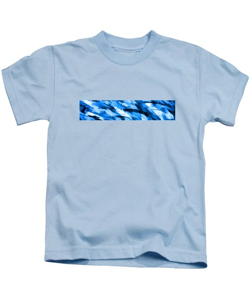 Designer Camo In Blue Kids T-Shirt