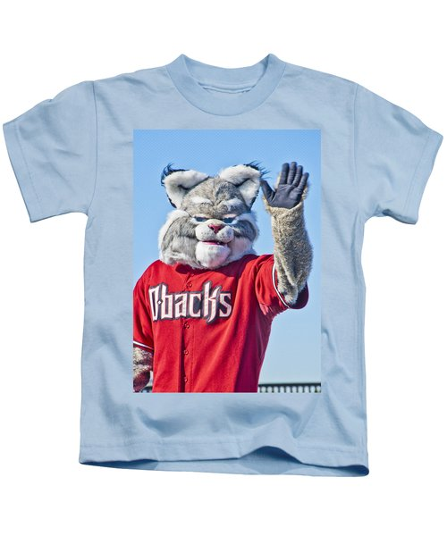Diamondbacks Mascot Baxter Kids T-Shirt by Jon Berghoff