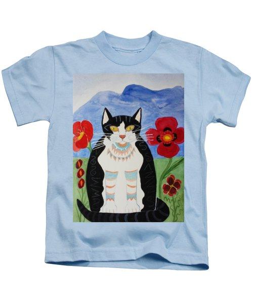 Diwali Tux Cat Kids T-Shirt