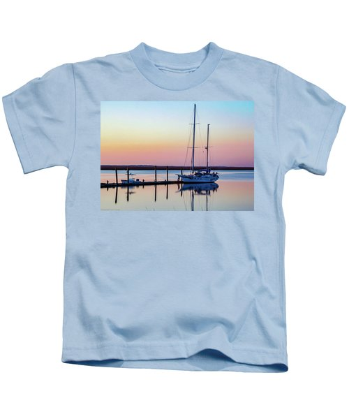 Docked On Jekyll Island Kids T-Shirt