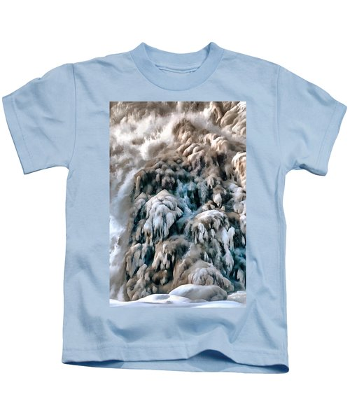 Dog Falls Kids T-Shirt