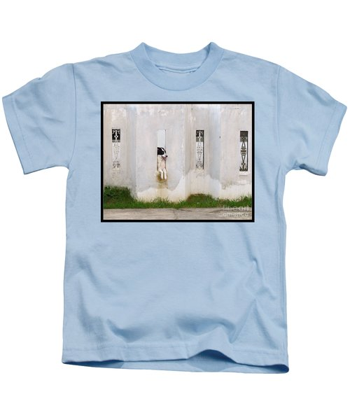 Dog Watching Kids T-Shirt