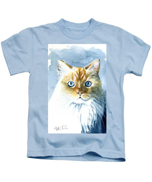 Doll Face Flame Point Himalayan Cat Painting Kids T-Shirt