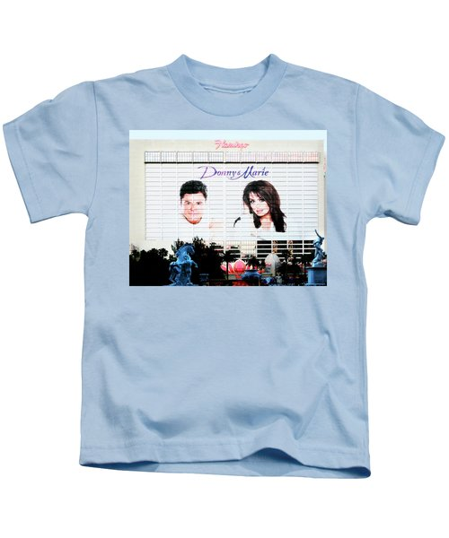 Donny And Marie Osmond Large Ad On Hotel Kids T-Shirt