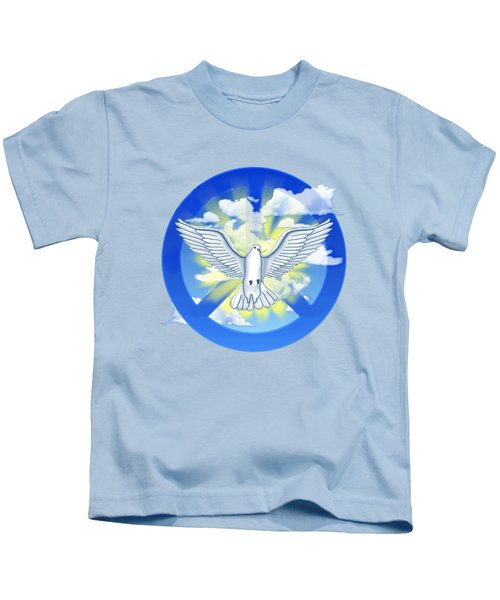 Dove Of Peace Kids T-Shirt by Chris MacDonald