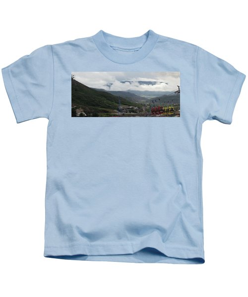 Down The Valley At Snowmass #3 Kids T-Shirt