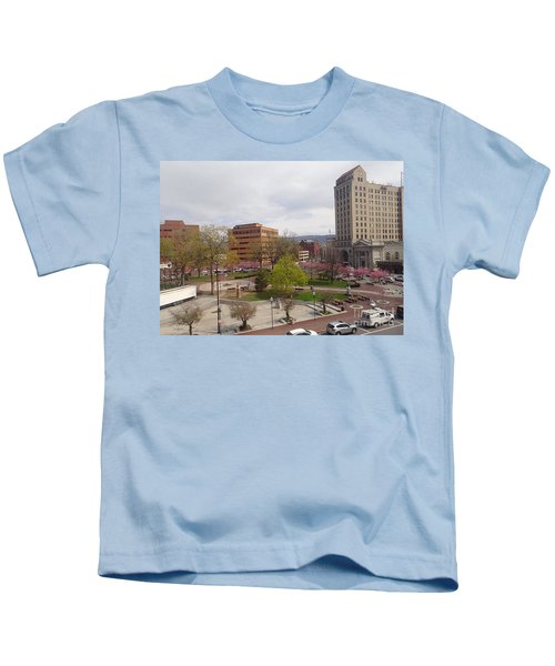 Downtown In Springtime Kids T-Shirt