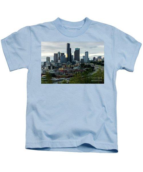 Downtown Seattle,washington Kids T-Shirt