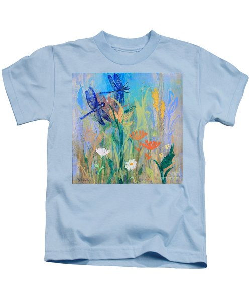 Dragonflies In Wild Garden Kids T-Shirt