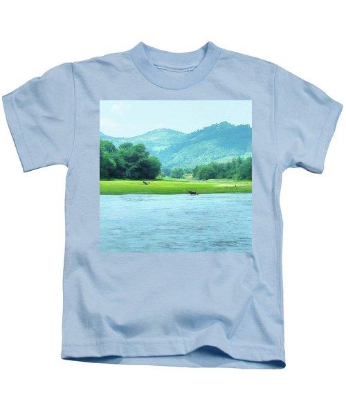 Animals In Li River Kids T-Shirt