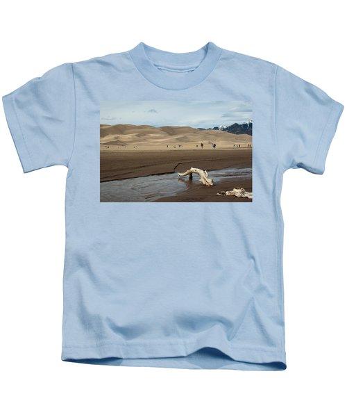 Drift Wood And Dunes Kids T-Shirt