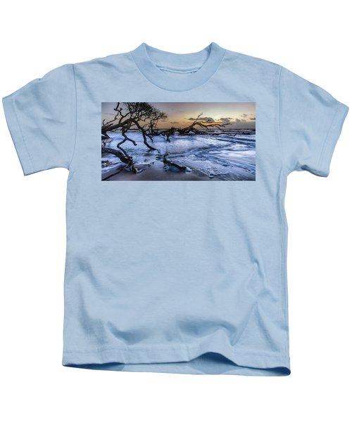 Driftwood Beach 3 Kids T-Shirt