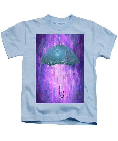 Dripping Poster Purple Rain Kids T-Shirt