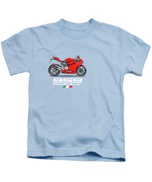 Ducati Panigale 959 Kids T-Shirt by Mark Rogan