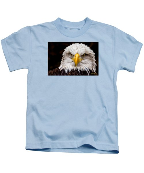 Defiant And Resolute - Bald Eagle Kids T-Shirt