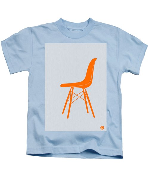 Eames Fiberglass Chair Orange Kids T-Shirt
