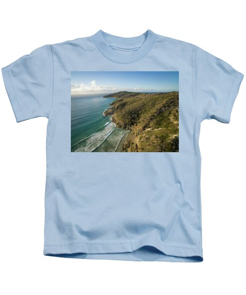 Early Morning Coastal Views On Moreton Island Kids T-Shirt