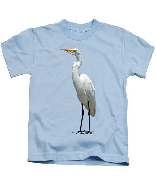Eastern Great Egret Ardea Alba Modesta Kids T-Shirt