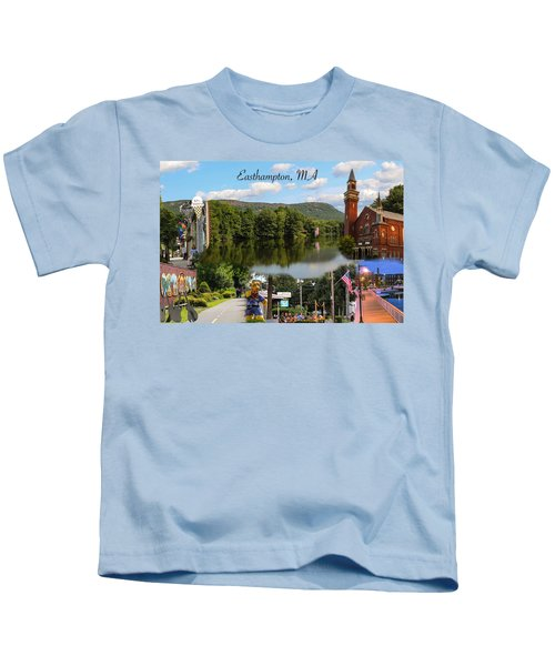 Easthampton Ma Collage Kids T-Shirt