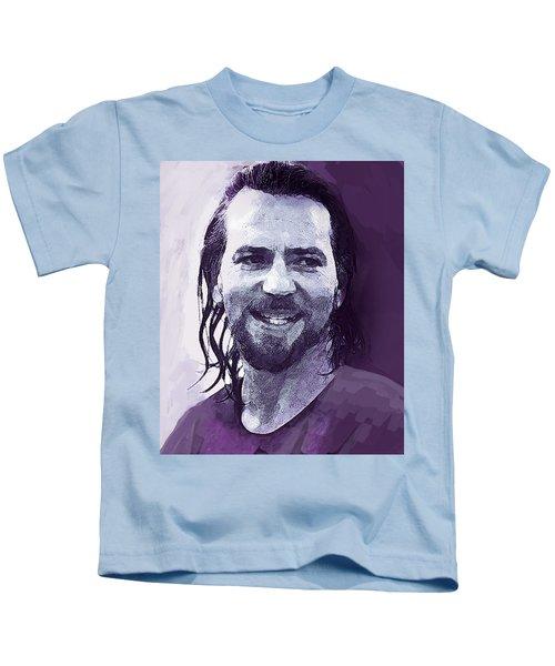 Eddie Vedder Pearl Jam  Kids T-Shirt by Enki Art