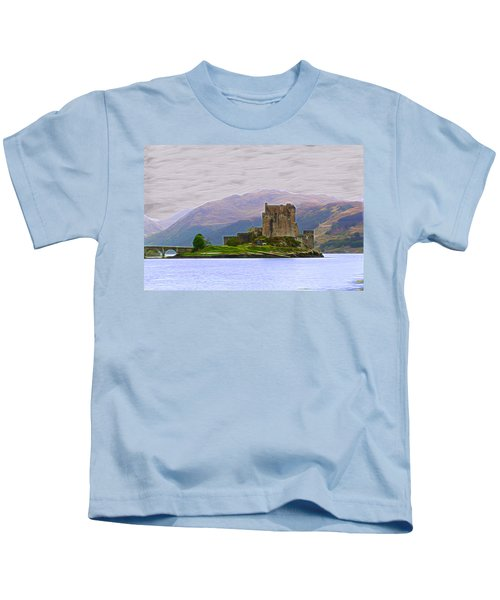 Eilean Donan Castle-dm Kids T-Shirt