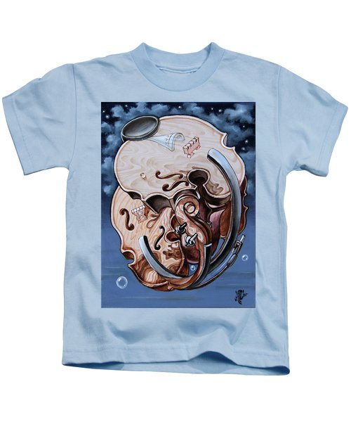 Einstein's Violin. Op.2763 Kids T-Shirt