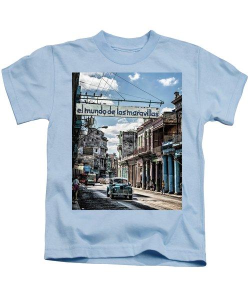 Kids T-Shirt featuring the photograph El Mundo De Las Maravillas by Gigi Ebert