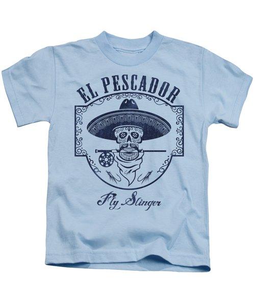 El Pescador Kids T-Shirt by Kevin Putman