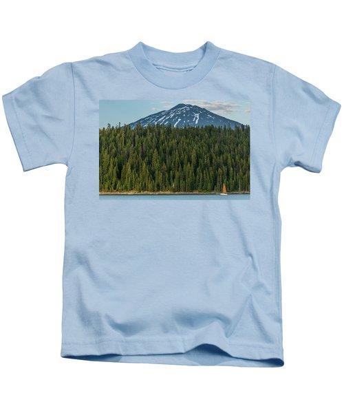 Elk Lake Sailing  Kids T-Shirt