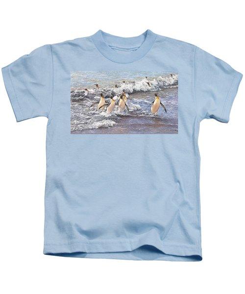 Emperor Penguins Kids T-Shirt