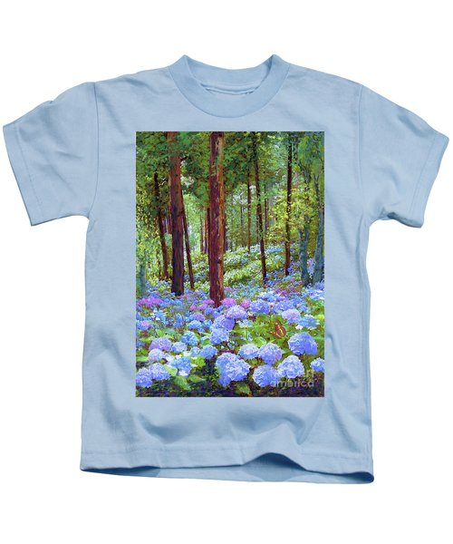 Endless Summer Blue Hydrangeas Kids T-Shirt