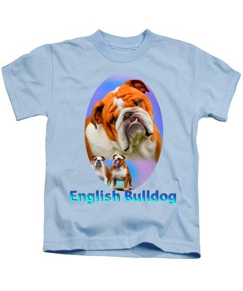 English Bulldog With Border Kids T-Shirt