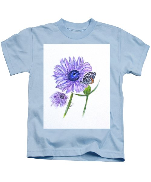 Erika's Butterfly Three Kids T-Shirt