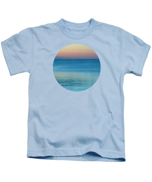 Evening At The Lake Kids T-Shirt by Mary Wolf