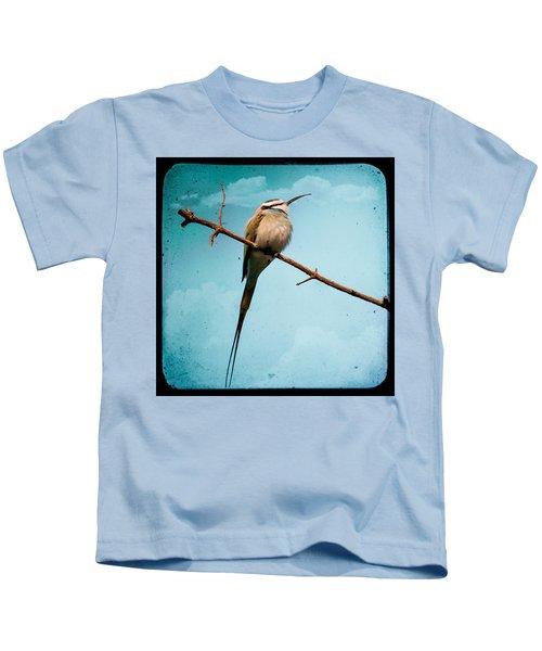 Exotic Birds - White Throated Bee Eater Kids T-Shirt