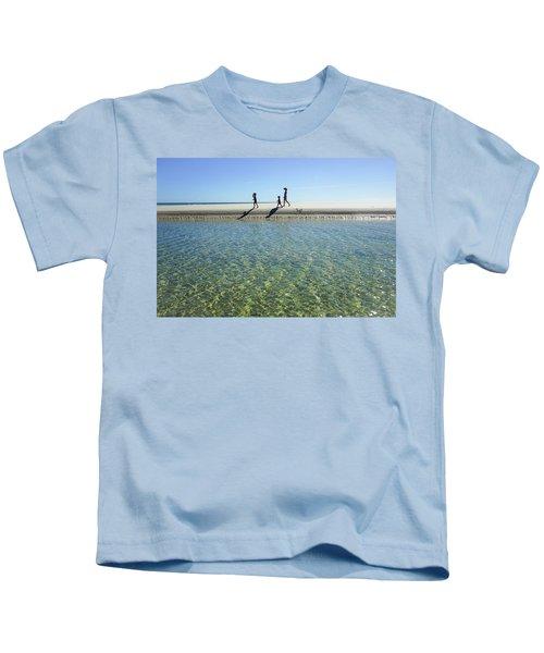Exploring A Tidal Beach Lagoon Kids T-Shirt