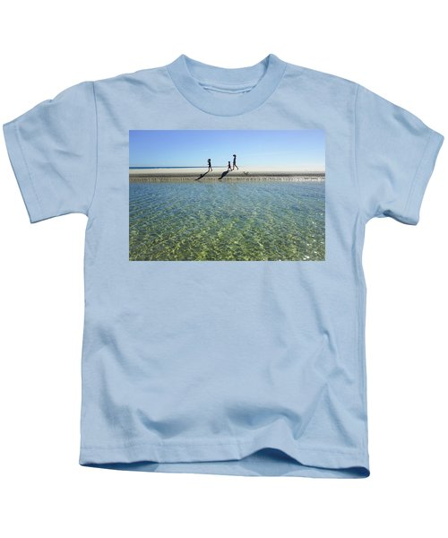 Exploring A Tidal Beach Lagoon Kids T-Shirt