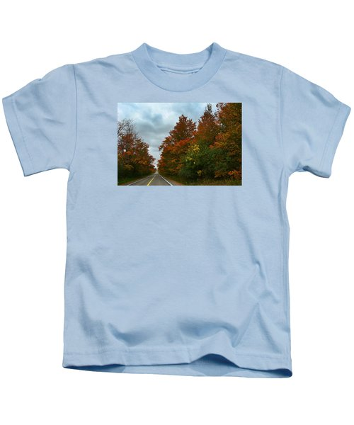 Fall Colors Dramatic Sky Kids T-Shirt