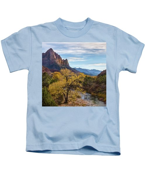 Fall Evening At Zion Kids T-Shirt